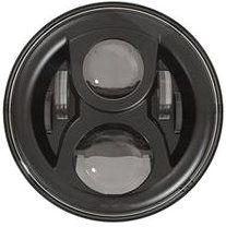 """Home - LED80BL-HQ (zwart) - 7"""" round LED headlamp 12/24V BLACK 80Watt (EACH)"""