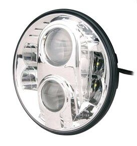 "Home - LED78CH - 7"" round LED headlamp 12/24V CHROME 78Watt (EACH)"