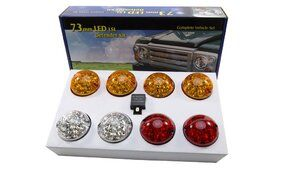Home - BA 9719 - LED 73MM COLOURED LAMP UPGRADE KIT SUITABLE FOR DEFENDER & SERIES VEHICLES