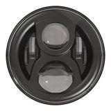 "LED115BL-HQ - 7"" round LED headlamp 12/24V BLACK 115Watt (EACH) - LED115BL-HQ - 7"" round LED headlamp 12/24V BLACK 115Watt (EACH)"