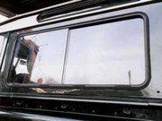 Accessoires exterieur - Land Rover Series 2 - BA 181 - Sliding window kit Defender 90 (pair) OEM clear glass
