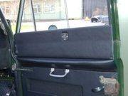 Body - Land Rover Series 2 - EXT382-12 - Safari rear side door top panel (R/H) - Black Vinyl
