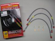 Remmen - Land Rover Series 3 - BA 157L - Brake hose kit stainless steel embroidered Serie 2a/3 50mm Extra long