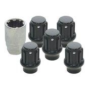 Wielen - Defender 1983-2006 - DA2475 - Locking wheel nuts black for MaxXtrac by Mach 5 alloy rims