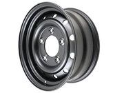 Wielen - Land Rover Series 2 - ANR4583PMO - Wolf rim 6.5x16 tubeless (GLOSS BLACK)