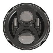 "Land Rover Series 3 - LED115BL-HQ - 7"" round LED headlamp 12/24V BLACK 115Watt (EACH)"
