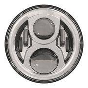 "Land Rover Series 2 - LED115CH-HQ - 7"" round LED headlamp 12/24V CHROME 115Watt (EACH)"
