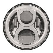 "Land Rover Series 3 - LED115CH-HQ - 7"" round LED headlamp 12/24V CHROME 115Watt (EACH)"