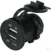 Diversen - USB-lader - USB-lader 1A en 2.1A