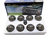 Land Rover Series 3 - BA 9720 - LED 73MM SMOKE LAMP UPGRADE KIT SUITABLE FOR DEFENDER & SERIES VEHICLES