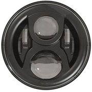 """Defender 1983-2006 - LED80BL-HQ (zwart) - 7"""" round LED headlamp 12/24V BLACK 80Watt (EACH)"""