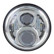 "Land Rover Series 3 - LED80CH-HQ(chrome) - 7"" round LED headlamp 12/24V CHROME 80Watt (EACH) ALTERNATIEF: LED78CH"