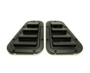 Accessoires exterieur - Defender 2007 > - BA 5900 - Intake set Satin Black with Stainless Steel mesh (pair)