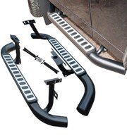 Treeplanken - LR008379 - Side steps 90 OEM (pair) Fire and Ice silver